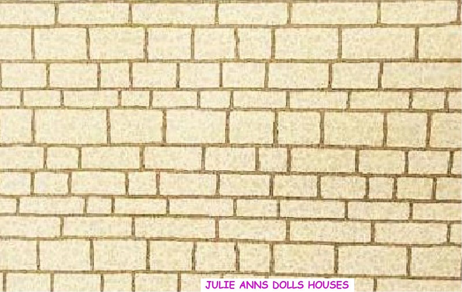 Cotswold stone Dolls House Wallpaper,  Free Delivery