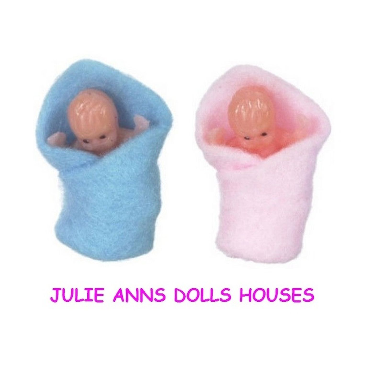 Dolls house family Babies, 1 baby boy  and 1 baby girl, FREE DELIVERY